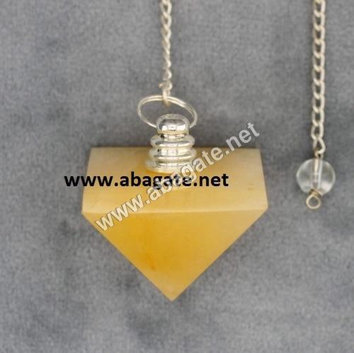 Yellow Aventurian Pyramid Pendulumn