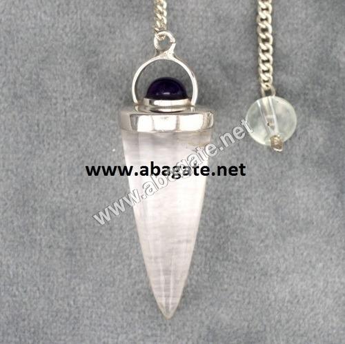Clear Quartz Bullet Pendulumn