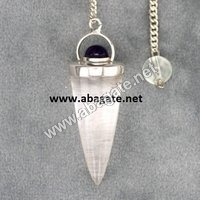 Clear Quartz Bullet Pendulumn