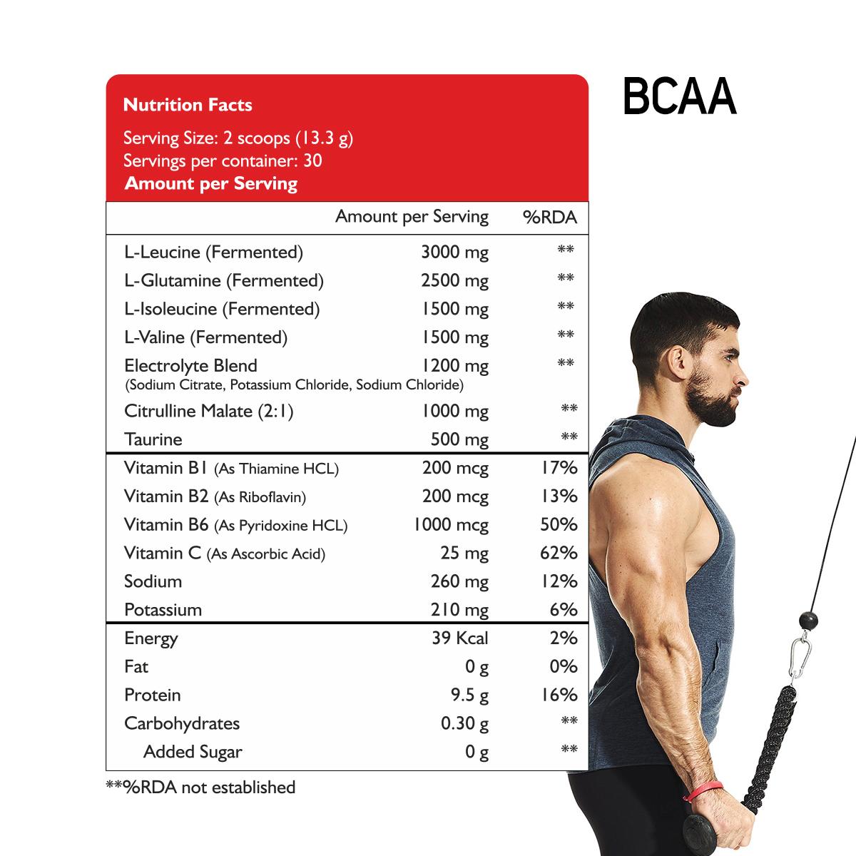 BCAA 7000 Amino Acid Instantized 2:1:1 Powder (Watermelon)