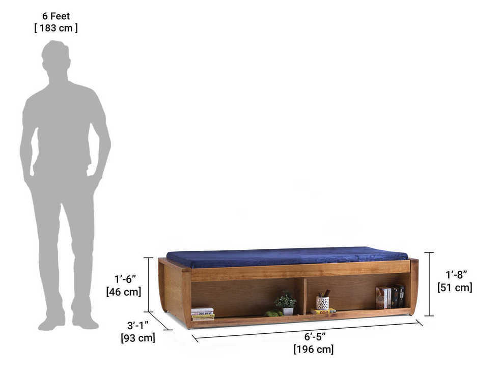 Wooden Diwan sum Sofa Storage