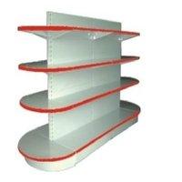 Round Head Double Shelves Side Rack