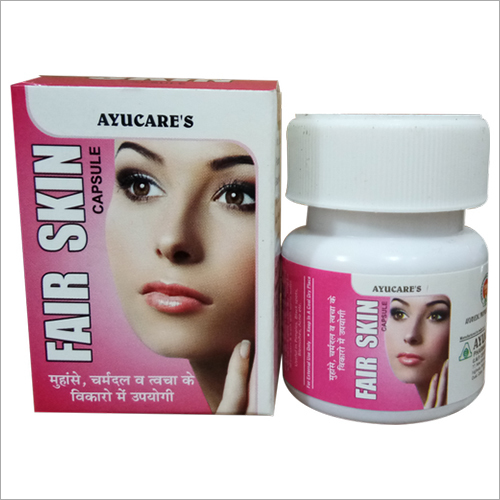 Ayurvedic Face Pack Fair Skin Capsule For Pimples & Glowing Skin