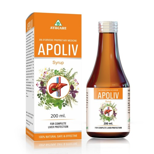 Ayurvedic Liver Tonic Apoliv Syrup For Jaundice & Liver Disorders