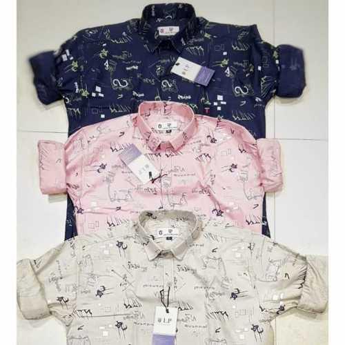 Branded logo men casual shirts