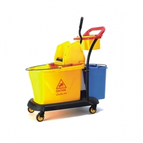 Three Bucket Mopping Trolley