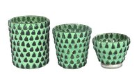 Green Finish Mosaic votive