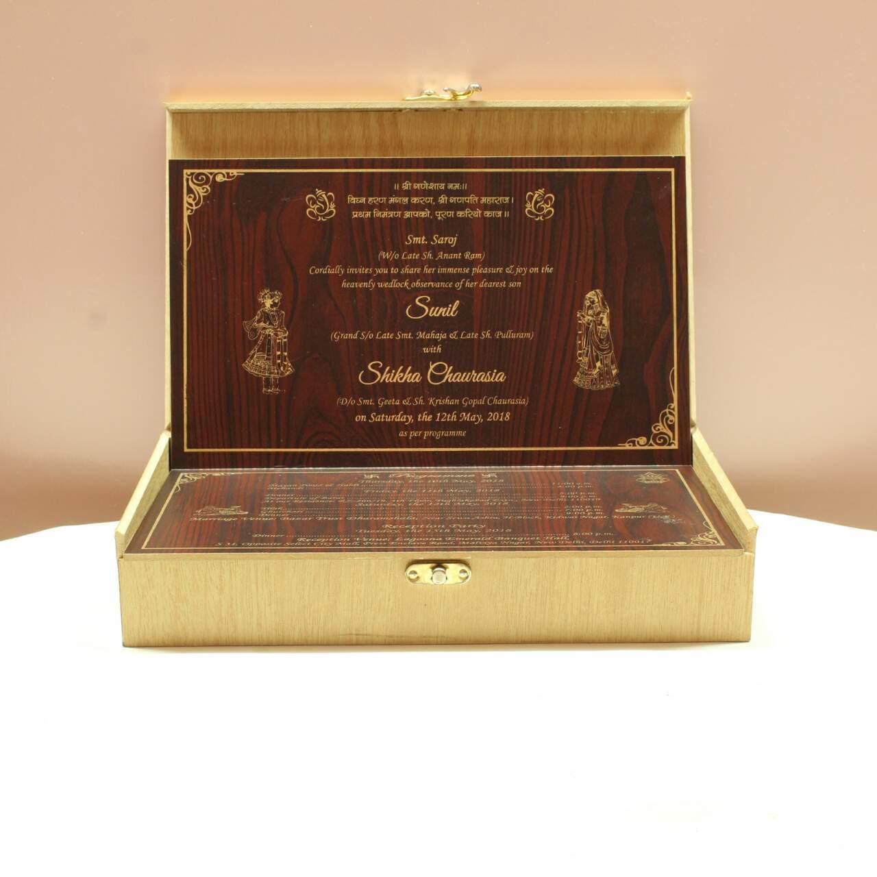 Wooden Wedding Box