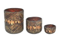 Glass Mosaic votive Set of 3