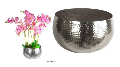 Hammered Metal Planters