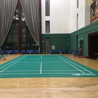 BWF certification sport flooring mats for badminton court