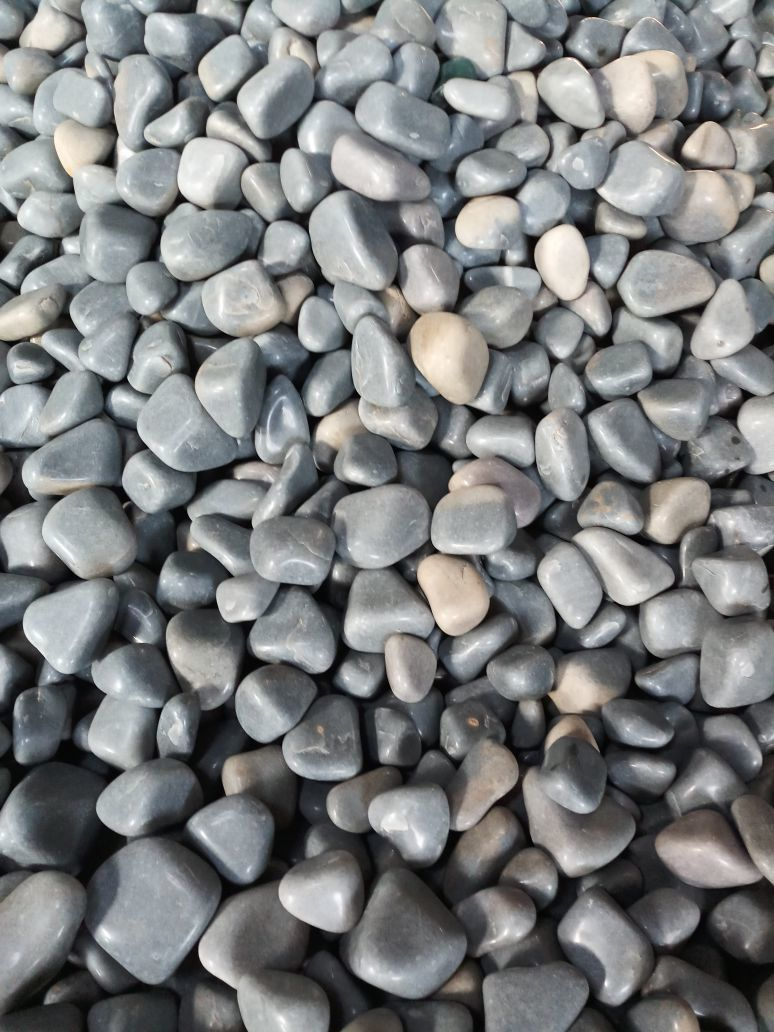 Tumbled Smoky Grey Polished Pebbles Stone