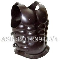 NauticalMart Steel Breast Plate Muscle Armor Dark Brown Finish