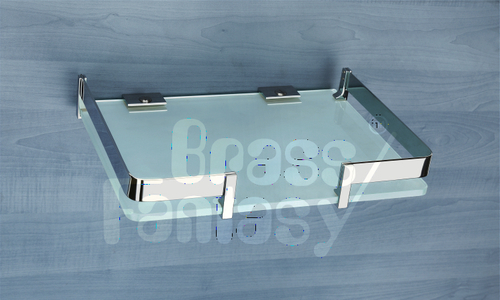 Brass Glass Mid Shelf Frame
