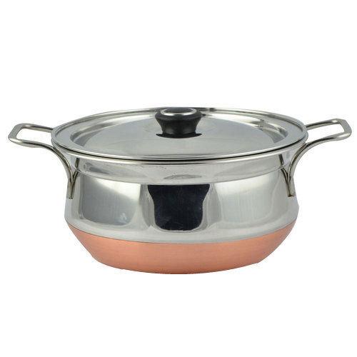 Steel copper bottom handi