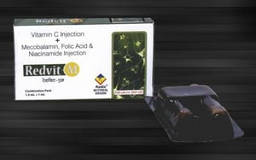 Combi Pack Injection of (Ampoule1) Vitamin C & (Ampoule 2) Mecobalamin,Folic Acid,Niacinamide