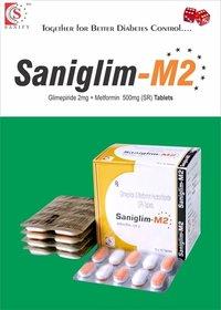 Glimepiride  + Metformin SR ( Bilayered)