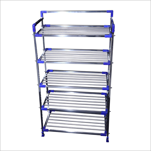 Stainless Steel Five Shelf Shoe Rack