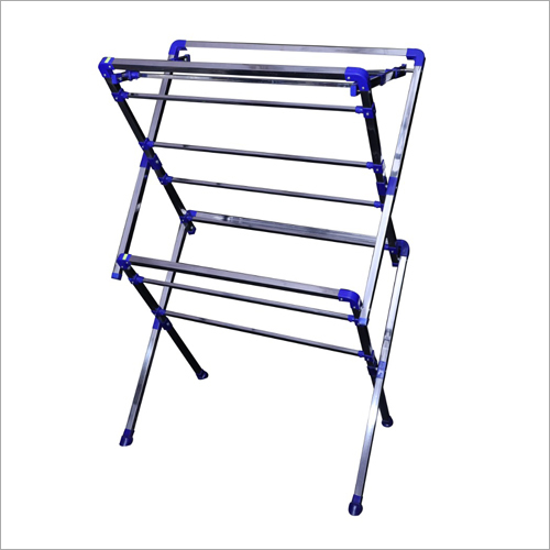 Stainless Steel Two Fold Full Cloth Drying Stand