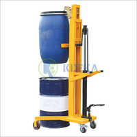 V-Shaped Base Manual Drum Stacker