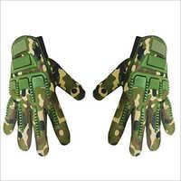 Camouflage Print Biker Gloves