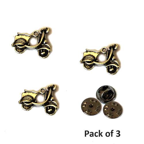metal Scooter stud pin brooch