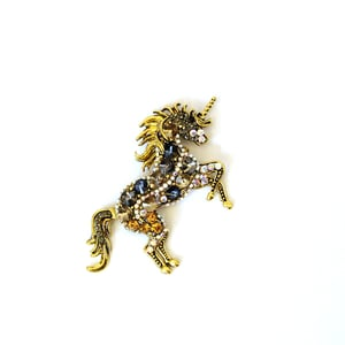 diamond horse brooch pin