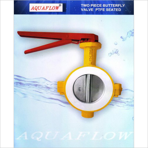 Aquaflow Two Piece Butterfly Valve Ptfe Seated Manual