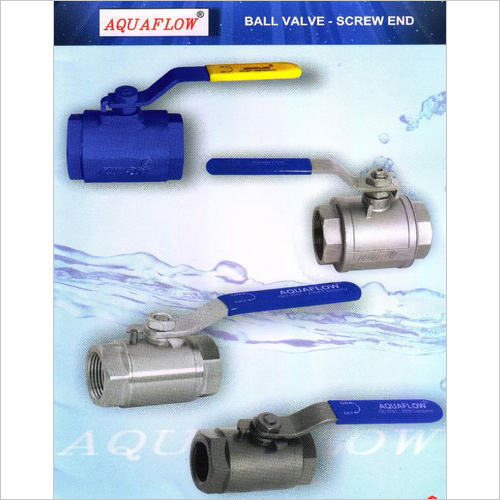 Aquaflow Ball Valve Screw End Stainless Steel