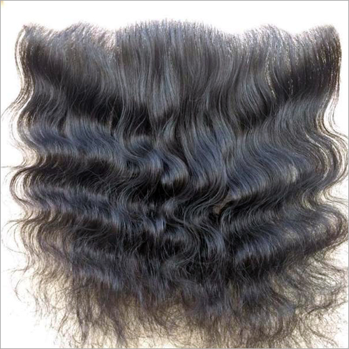 Transparent Swiss Lace Frontal Natural Wavy Hair