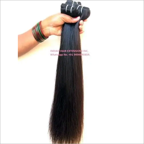 Indian Raw Hair Straight Machine Weft