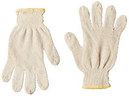 SEAMLESS COTTON KNITTED GLOVES 35GM