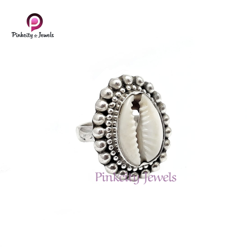 sea shell 925 sterling silver ring