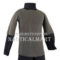 NAUTICALMART Armor Chainmail Haubergeon - Butted High Tensile Wire Rings