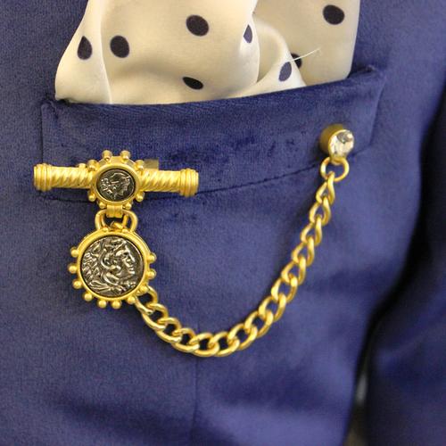 Golden Chain Diamond Brooch