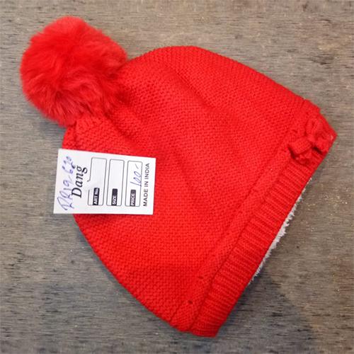 Kids Plain Woolen Cap