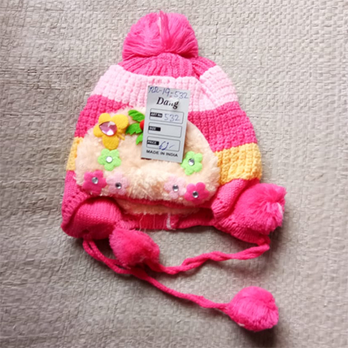 Kids Multicolour Woolen Cap
