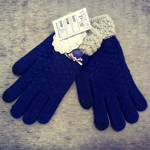 Ladies Blue woolen Gloves