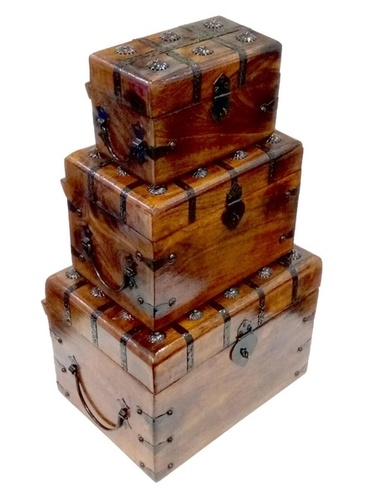 Wooden Trunk Boxes