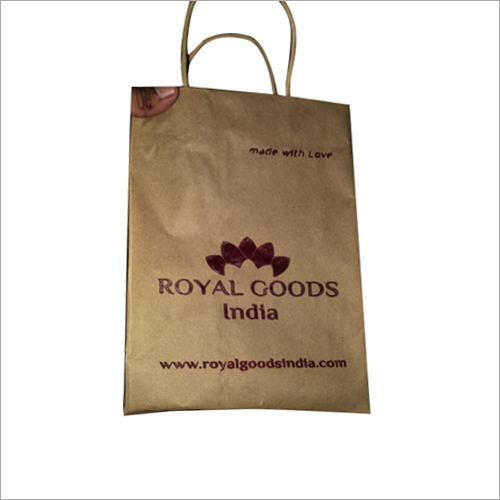 Brown Paper Printed Bag