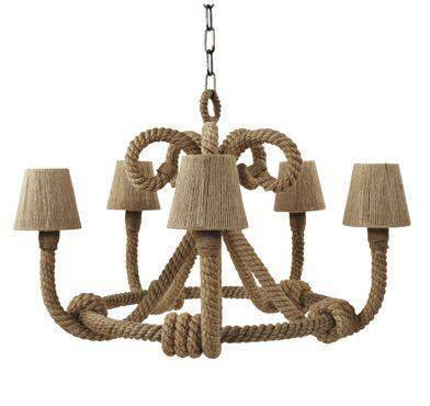 Rope chandelier light lamp