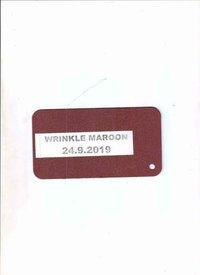 WRINKLE MAROON
