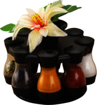 Masala Storage Royal 8 Jars With Flower Jars