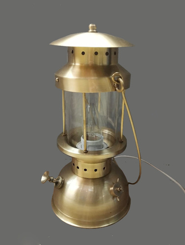 Metal table lamp brass finish