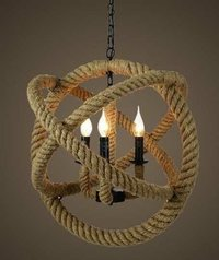 Rope Chandelier Atlas shape