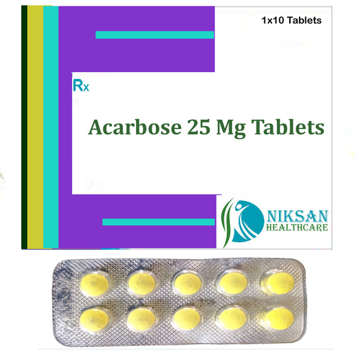 Acarbose Tablets 25 Mg