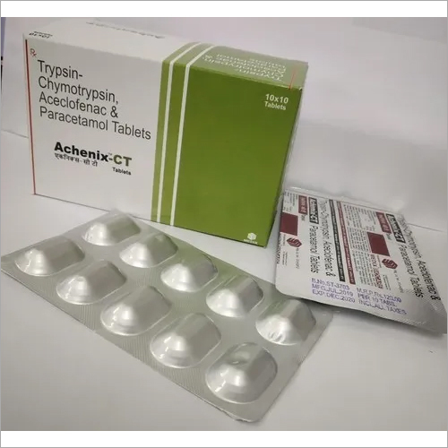 Trypsin-chymotrypsin, Aceclofenac, Paracetamol tablet