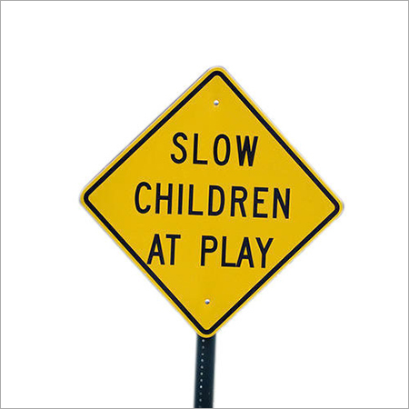 Children Playing Sign Board