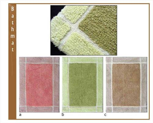 Cotton Bath Mats Over Tufted