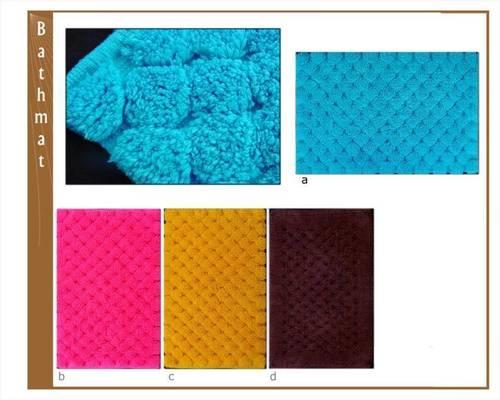 Diamond Design Cotton Bath Mat